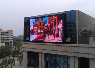 Commercial Giant Led Screen Outdoor Advertising , Outdoor Digital Message Board 10mm Real Pixels